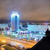 Ночная панорама города.