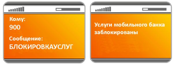 SMS-распоряжение на блокировку.